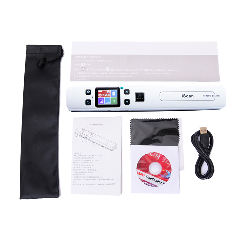 Portable Scanner WIFI Photo-Fine-Resolution Connected with Jpg/pdf-File Format 1050DPI title=