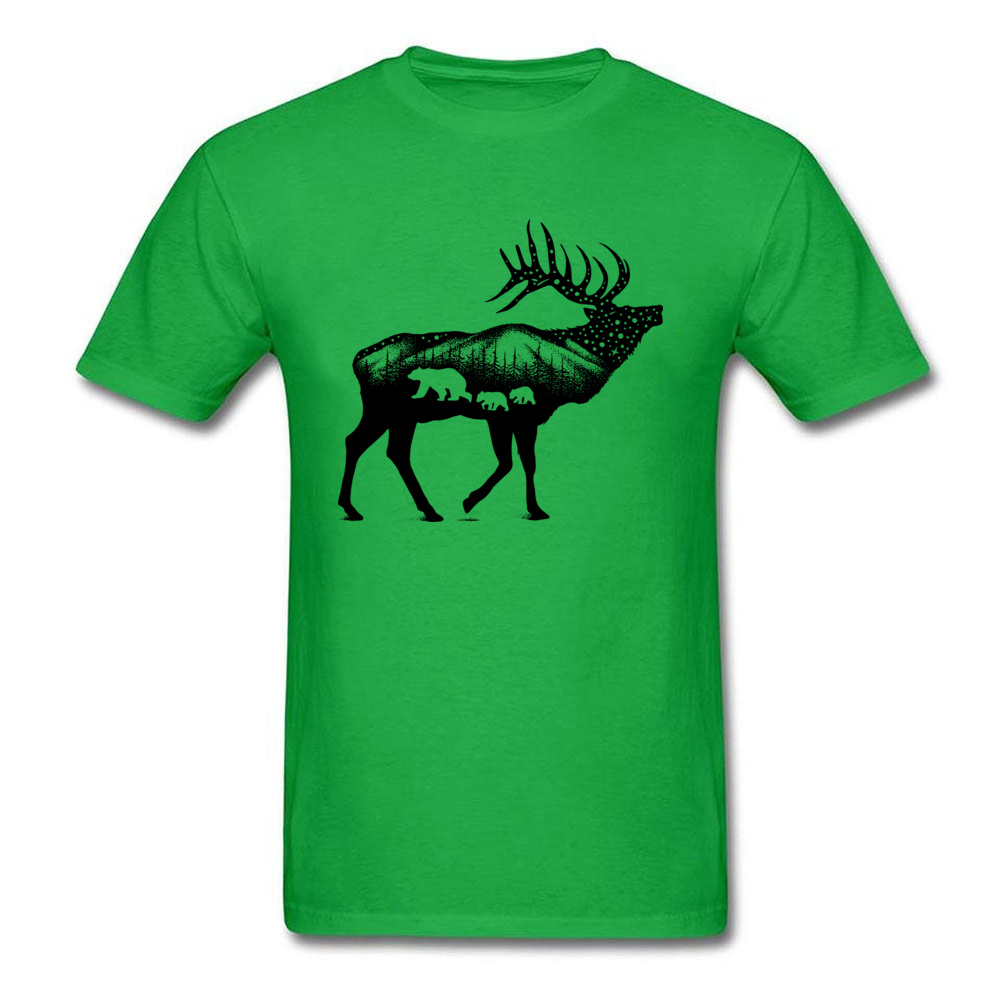 ELK 100% Coon Fabric Tshirts for Boys Short Sleeve Cool Tops T Shirt Graphic Summer O Neck T-Shirt Normal Wholesale ELK green
