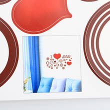 New Fasion Love Heart Rounds Wall Decor Room Sticker Vinyl Removable Paper Mural Home Hot Good Quality