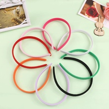 10Pcs Trendy Women's Girl's Soft Solid Candy Colour Headband Washing Face Hair Band(China)
