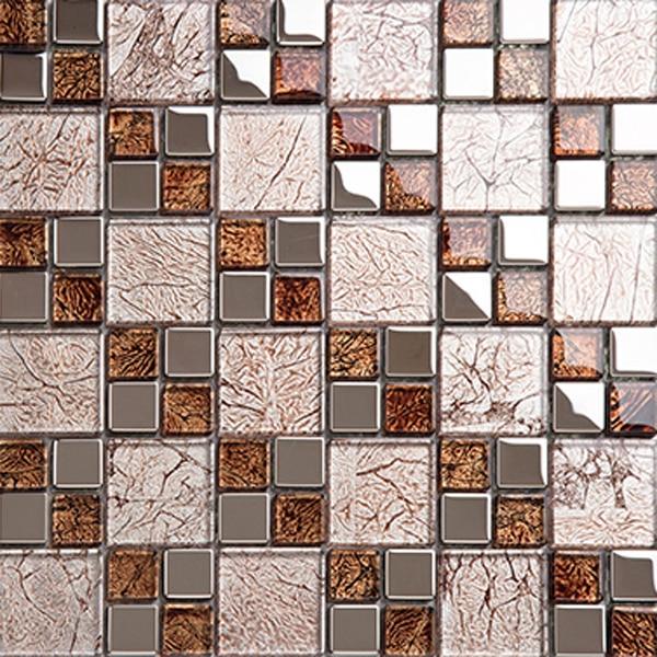 Black mosaic tile backsplash