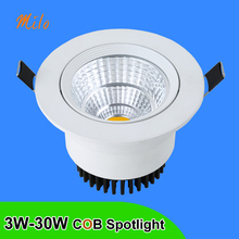 3W 5W 7W 10W 15W 20W 30W LED spotlight, 0-30 degrees adjusting, high quality and very bright, be used for indoor lighting(China)