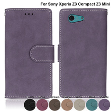 Buy Coque SONY Xperia Z3 mini Z3 Compact M55W D5803 D5833 Cases Leather Phone Cover Sony Xperia Z 3 Compact Z3 mini M55W for $4.23 in AliExpress store