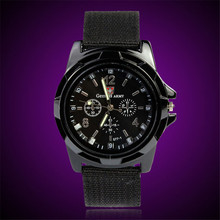 FHD Fashion Watch Army Racing Force Military Sport Men Officer Fabric Band Watch Men Wrist Watch Relogio Masculino Dorp Shipping