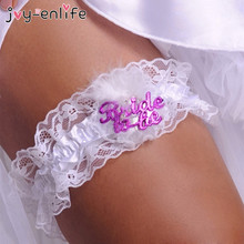 JOY-ENLIFE 3 Style Sexy Bride To Be Badge Lace Garter Wedding Hen Night Club Bride Bridesmaid Bachelorette Party Favors Gifts