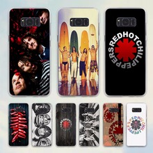 Red Hot Chili Peppers Rock band diseño Caso duro transparente para Samsung Galaxy S6 S7 S8 S8Plus borde nota 5 4