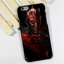 Fit for iPhone 4 4s 5 5s 5c se 6 6s 7 plus ipod touch 4 5 6 back skins phone case cover sith star wars darth maul dark side
