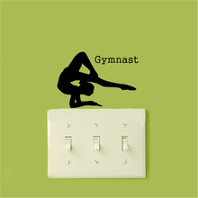 Girl Gymnast Vinyl Switch Sticker Funny JDM Home Decoration Accessories Wall Stickers For Kids Rooms A2179