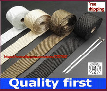 5M and 10M Motorcycles Exhaust Header Pipe Wrap Heat Manifold Insulation Cloth Roll With 3 color optional(China)