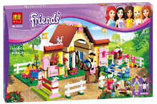 New Original Bela Friends 10163 Heartlake Stables Girls Mia's Farm Building Blocks 400pcs/set Bricks toys Compatible With Legoe