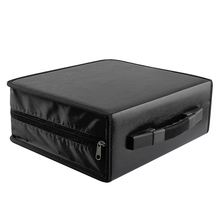 OUNONA 288 Disc Black CD DVD Dics Media Storage Portable Carry Bag Case Wallet Holder Box Universal(China)