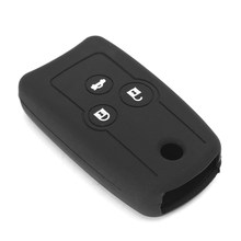 New Silicon Key Fob Holder Case Shell Chain Cover Fit For ACURA MDX TL TSX RSX Black Silicone(China)