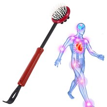 PVC Dual Use Body Head Massage Telescopic Extendable Back Scratcher Massager(China)