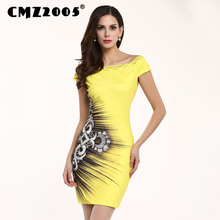 Hot Sale Women Apparel High-Quality Printing Short Sleeve Diamond Decoration Mini Fashion Summer Dress Personality Dresses 71178(China)