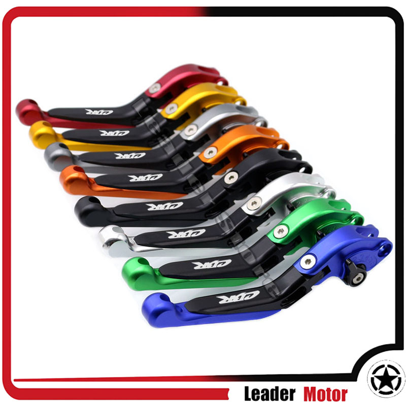 For HONDA CBR650F CB650F 2014 2015 2016 2017 Motorcycle Accessories Folding Extendable Brake Clutch Levers Eight Colors LOGO CBR<br>