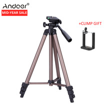 Ship From RU On Sale Andoer WT3130 Protable Camera Tripod for Canon Nikon Sony DSLR DV Camcorder Phone Tripod+Phone Holder Clip