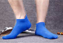 New Men's Cotton Five Finger Toe Socks Deportes Short Tube Mesh Finger Meias Polyester Sock Elasticity Sock