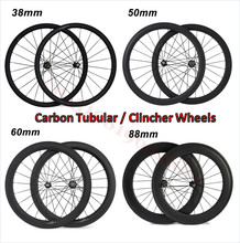Buy custom Sticker carbon wheels 38mm 45mm 50mm 60mm 88mm carbon bicycle wheels wide 23/25mm 700C road bike carbon wheelset for $285.00 in AliExpress store