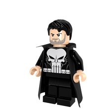 PG249 Punisher Single Sale Marvel Super Heroes The Amazing Spider-Man Figures Bricks Learning Building Blocks Kids Gifts Toys
