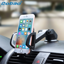 Cobao Universal Car Mobile Phone Holder Stand Dashboard Windshield Sticky Cell Phone Holder for iPhone Support Samsung GPS(China)