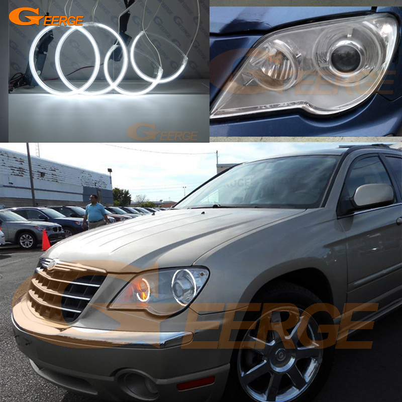 For Chrysler Pacifica 2007 2008 XENON headlight Excellent Angel Eyes Ultra bright illumination CCFL angel eyes kit<br>