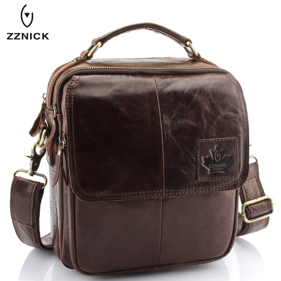 ZZNICK 2017 New Genuine Cowhide Leather Men Bags Crossbody Shoulder Bag Handbags Design Men Messenger Bag Fashion Men Briefcases<br>