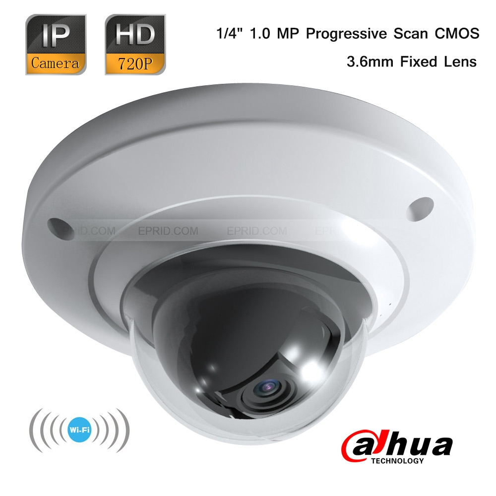 Dahua 1MP HD 720P Wi-Fi Mini CCTV Security Indoor Dome Camera 3.6mm Lens<br><br>Aliexpress
