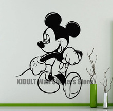 Cartoon Wall Stickers Mickey Mouse Lovely Shape Children's Bedroom, The Family Room Flat Wall Decor Vinyl Wall Decals Multicolor