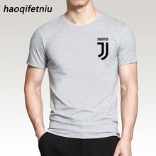 2017 New Brand Mens T Shirt Cotton Short Sleeve juventus print Fitness T-Shirt Men Homme Classic Casual juventus T Shirt