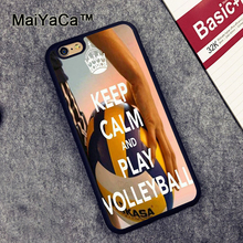 MaiYaCa keep calm and play volleyball Slim Rubber Cover Cover Fundas for iPhone 6 6S Phone Cases Protective Case for iPhone 6s(China)