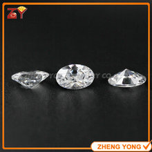 White Cubic Zirconia Stone 5x7mm Oval Cut Synthetic Gemstone For Jewelry Making(China)