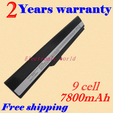 JIGU New 6600 mAh Hot Replacement laptop battery For ASUS K42 K52 A52 A52F A52J A31-K52 A32-K52 A41-K52 A42-K52 Free Shipping