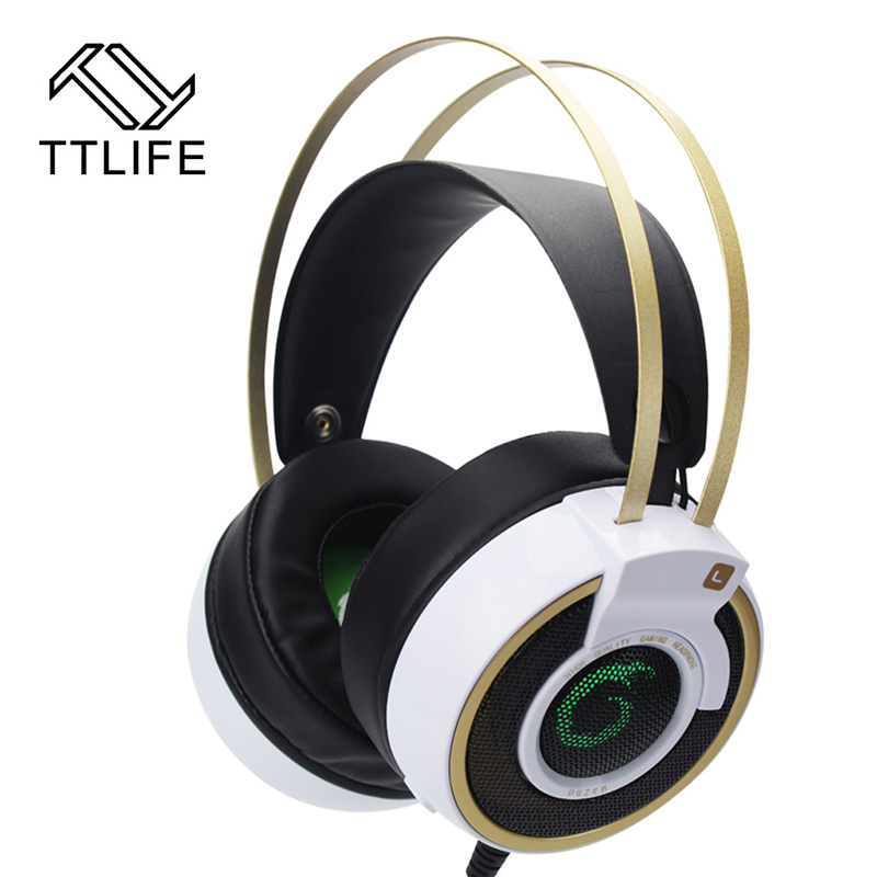 TTLIFE Gaming Headset Shock LED Bass Sound Earphone 2.0m Wired Headphone Voice control with Microphone for Computer gaming<br><br>Aliexpress