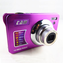 Optical Zoom Camera photos 15MP 3 X Optical zoom 2.7''Screen Lithium rechargeable battery Full HDMI video function(China)