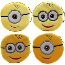 Fashion Design Despicable Me Yellow Minions Kids Wallets Women Coin Purse Girl's Makeup Pouch Female Storage Coin Bags
