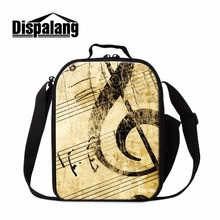 Dispalang Musical Note Lunch Bag for Children School Trendy Cooler Bag Art Ballet Lunch Box Container with Straps Meal Bag Food