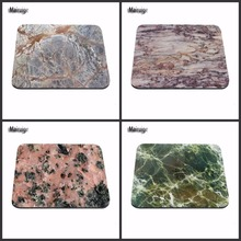 Mairuige  Modern Faux Gold Glitter Marble Unique Desktop Pad Mousepads Computer Animation Round Mouse Mat Round Mice Pad