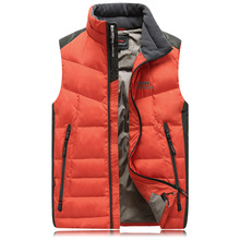 Men's vests sleeveless 100% white duck down jacket man 2016 casual vests for men jacket male coat