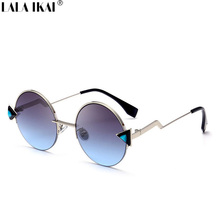 Women Plastic Casual Outfits Glasses Feminino Cat Eye Brand Designer Sun Glasses Look Stylish UV400 Colorful Eyewears ZWW0472-45