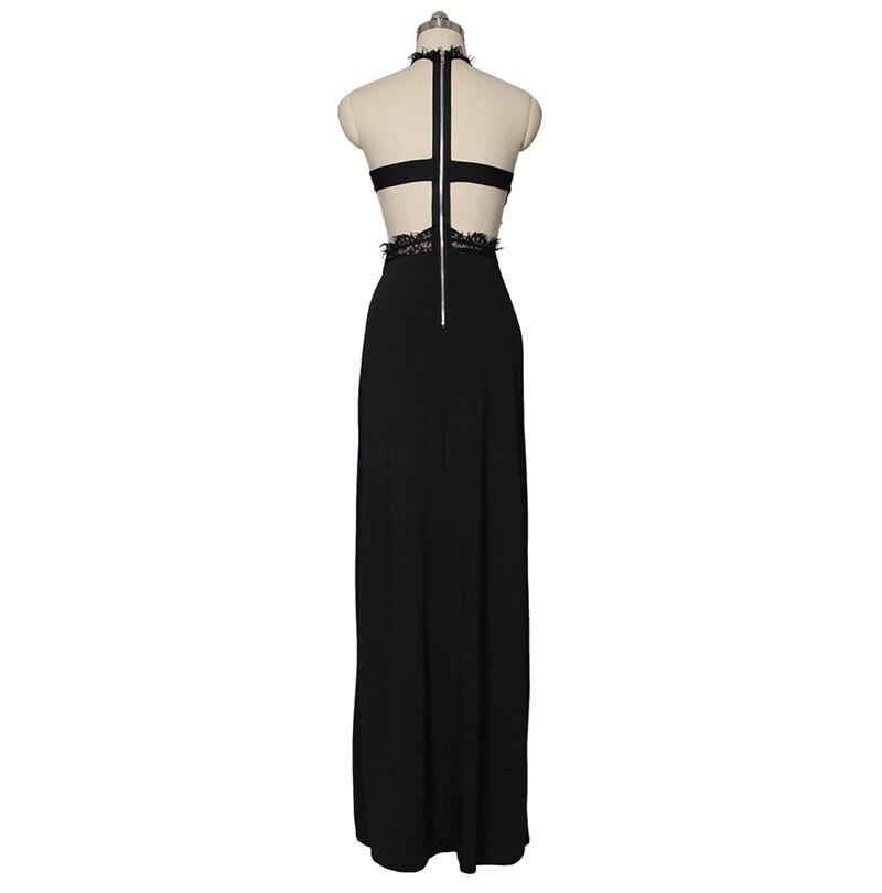 GACVGA Sexy Women Sleeveless Summer Dress Halter Neck Lace Crochet Evening Maxi Long Dress Backless Party Dresses Vestido 13