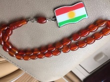 Kurdistan map jewelry prayer beads Rosary tesbih  Natural Onyx red Agate Stone oval Shape masbaha misbaha kurdish  flag  tasbih