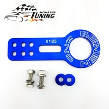 Tuning Monster Anodized Universal Front Tow Hook Billet Aluminum Towing Kit For Honda Civic EK EG With Logo(China)