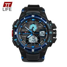 TTLIFE Mens Watches 30m Waterproof Swimming Sports Military Mens Watch G Style Quartz Digital 2017 Luxury Brand Wrist Watch TS11