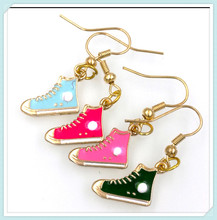 4 pairs baseball trainer sport shoe charm earring choose your color drop shipping ER756(China)