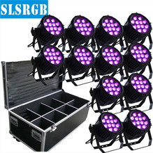 (12PCS led par light and 1 flight case)12pcs 12w Outdoor par led, led par 64 rgbw dmx stage lighting 4 in 1 rgbw outdoor led par