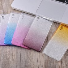 Gradient Color TPU Glitter Film 2 in 1 Protective Case For Sony Xperia X XA XZ X Compact/Performance Z5 Soft Back Case