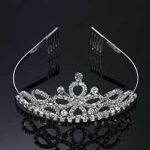 4 Style Wedding Bridal Tiara Crown Couronne Crystal Rhinestone Party Diadem Jewelry Hair Comb Crowns Hairwear Bridesmaid Corona(China)