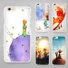 The Little Prince and the fox Hard White Cell Phone Case Cover for Apple iPhone 4 4s 5 5C SE 5s 6 6s 7 8 Plus X(China)