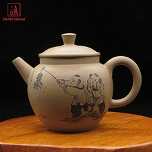 ZGJGZ Yixing Zisha Teapot Da Hong Pao Gongfu Tea Set Handmade Carving Children Fun Tea Pot Kettle for Tea Ceremony(China)