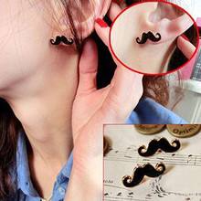 ES125 Special Spike European and American Vintage Jewelry Cute Stud Earrings Sexy Mustache Accessories